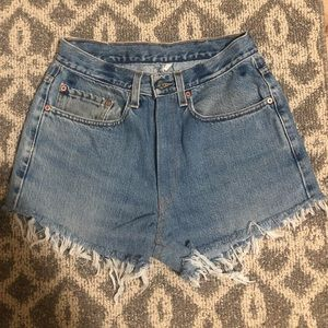 Levi's high waisted cutoff shorts